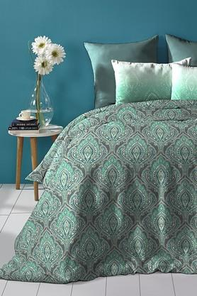 Cotton King XL Digital Printed Bedsheet With Pillow Cover - 202448893