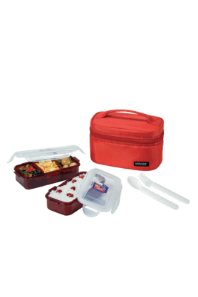 LOCK & LOCK Red Lunch Box Set (Set Of 2)