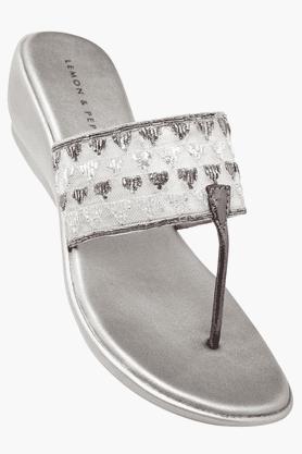 LEMON & PEPPERWomens Casual Slipon Wedge Sandal