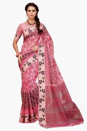 ASHIKA Womens Designer Cotton Printed Saree - 202338205