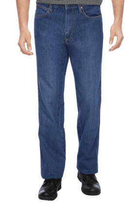 WRANGLER Mens 5 Pocket Regular Fit Non Stretch Jeans