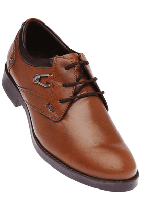 LEE COOPER Mens Tan Leather Casual Shoe