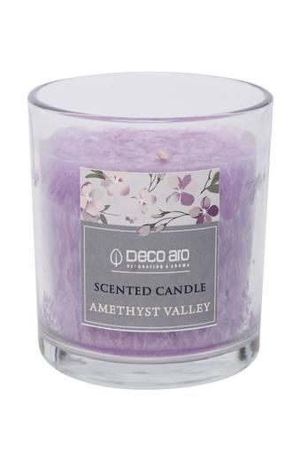 Cylindrical Palm Glass Amethyst Valley Scented Candle