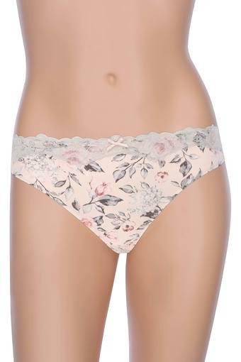 Womens Floral Printed Lace Hipster Briefs