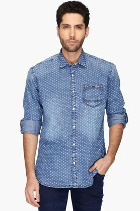 Killer Formal Shirts (Men's) - Mens Slim Fit Printed Shirt