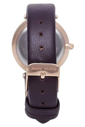 Womens Plum Purple Dial Leather Analogue Watch - AK3272RGPL