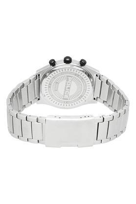 Mens Black Dial Metallic Chronograph Watch - PL15510JS02M