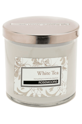 Glass Candle Small White Tea