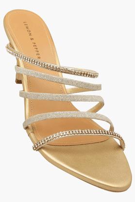 LEMON & PEPPERWomens Party Wear Slipon Heel Sandal - 201088395