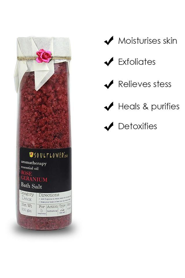 Rose Geranium Bath Salt - 500gm
