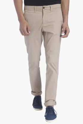 JACK AND JONES Mens Solid Trousers