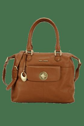 Womens Leather Zipper Closure Sling Bag