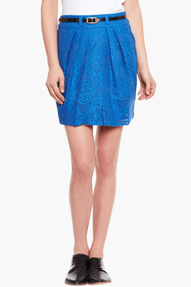 THE VANCAWomens Slim Fit Solid Skirt - 201424908