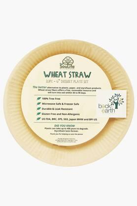 BACK TO EARTH Wheat Straw Dessert Plate Set Of 6