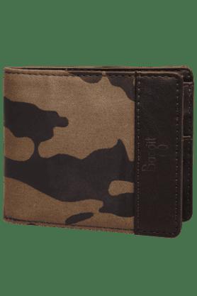 BAGGITMens Buff Leather 1 Fold Wallet
