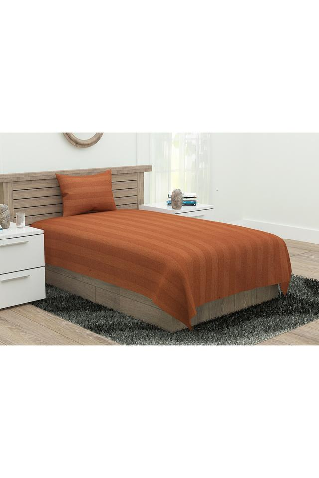 Sonata Classic Self Printed Single Bed Sheet with 1 Pillow Cover