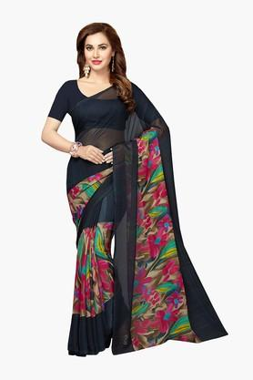 ISHIN Women Faux Georgette Floral Printed Saree - 202529100