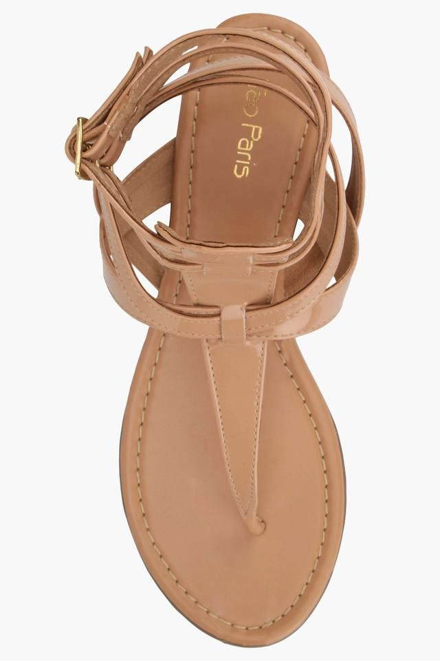 Womens Casual Ankle Buckle Closure Flat Gladiators