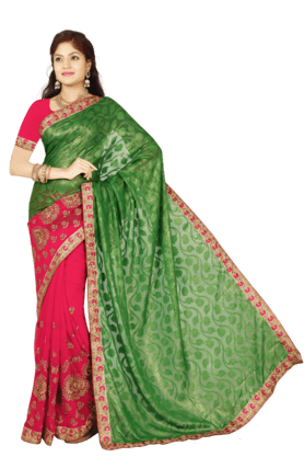DEMARCAWomens Brasso Georgette Saree (Buy Any Demarca Product & Get A Pair Of Matching Earrings Free) - 200947051