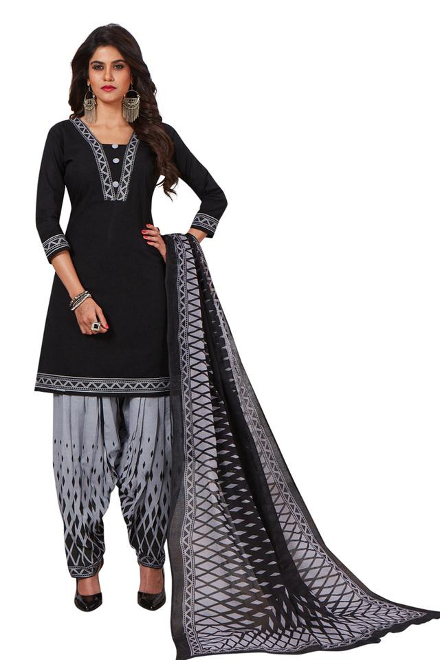 Womens Solid Salwar Suit Dress Material with Dupatta