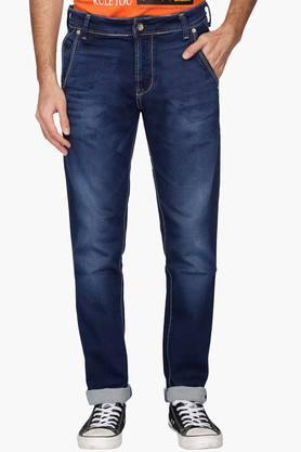 KILLERMens Extra Slim Fit Heavy Wash Whiskered Jeans