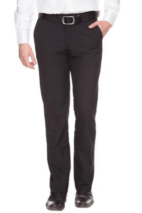 BLACKBERRYS Mens Slim Fit Solid Formal Trousers
