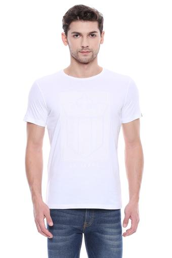 LOUIS PHILIPPE JEANS -  White T-shirts - Main