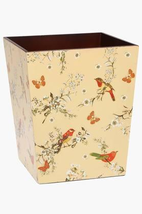 IVY Wooden Printed Dustbin