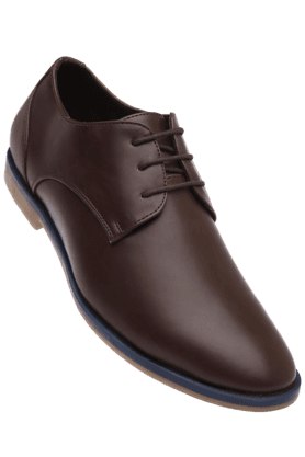VETTORIO FRATINIMens Brown Leather Durby Casual Shoe