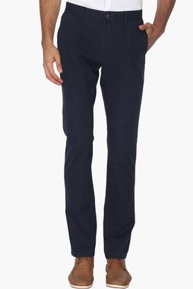 ALLEN SOLLYMens 4 Pocket Regular Fit Solid Trousers