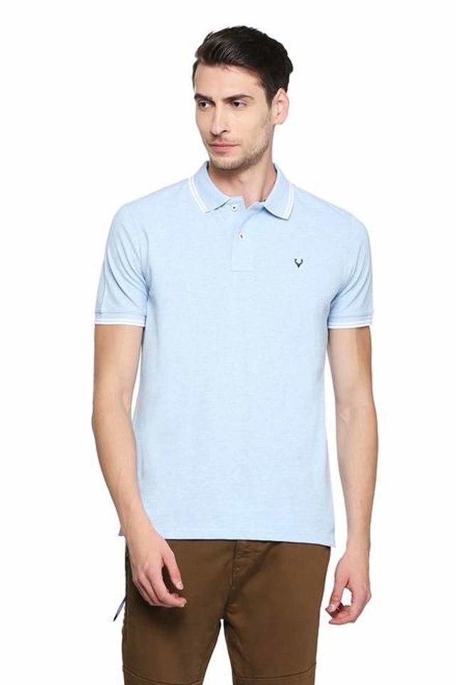 ALLEN SOLLY - BlueT-Shirts & Polos - Main