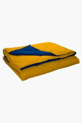 STOA PARISBlue Yellow Reversible Microfiber Comforter (Comforter (Double)