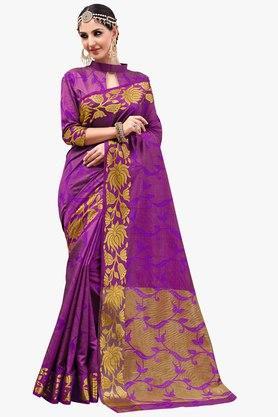 ASHIKAWomens Golden Weave Brasso Saree
