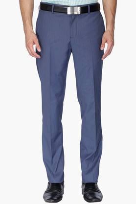 BLACKBERRYSMens 4 Pocket Slim Fit Slub Formal Trousers - 202123839