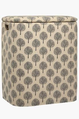 BACK TO EARTH Oval Basket Cum Ottoman - Large