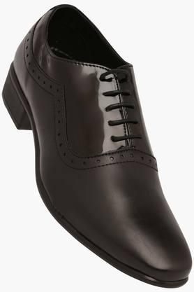 FRANCO LEONE Mens Leather Lace Up Smart Formal Shoes