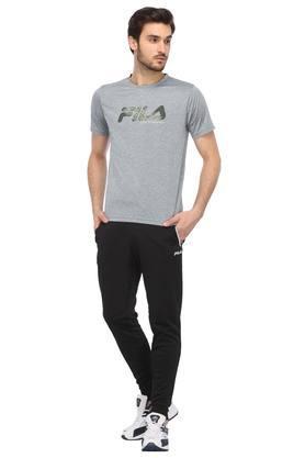 Mens 2 Pocket Solid Sports Joggers