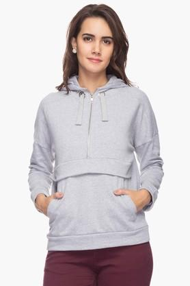 RS BY ROCKY STAR Womens Slub Hooded Sweatshirt