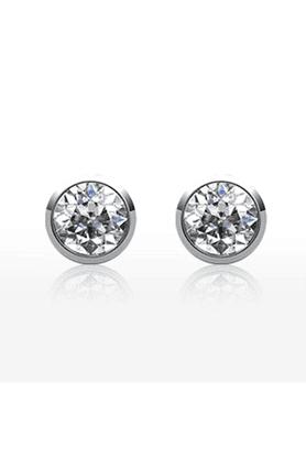 MAHIMahi Rhodium Plated Solitaire Earrings For Women ER1105026R