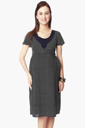 NINE MATERNITYWomens Round Neck Printed Dress - 202345120