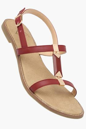FEMINA FLAUNTWomens Daily Wear Ankle Buckle Closure Flat Sandals - 202124911