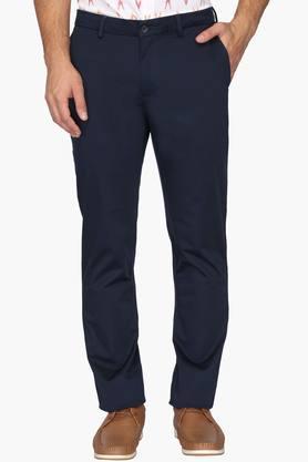 BLACKBERRYSMens 4 Pocket Regular Fit Solid Formal Trousers