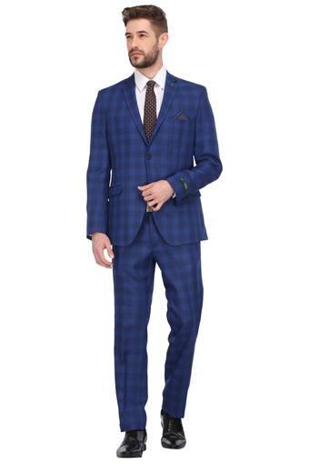 Mens Notched Lapel Check 2 Piece Suit