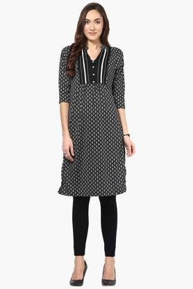 FUSION BEATS Women Printed Kurta - 201996688