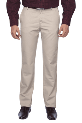 ALLEN SOLLYMens Flat Front Slim Fit Solid Chinos - 8589848