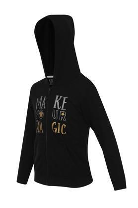 Girls Hooded Printed Sweatshirt