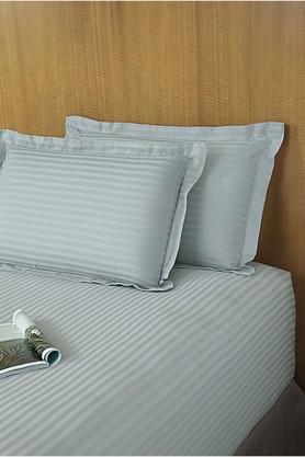 ST CLOUDSky Blue 320 TC Sateen Stripe Bedlinen (Bedsheet Set (Single)