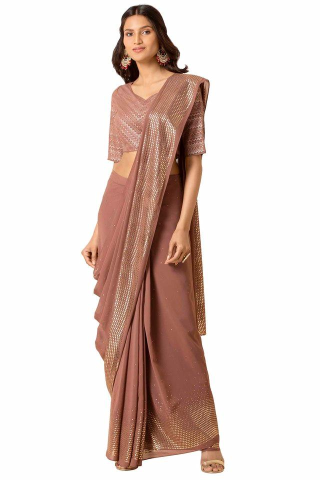 INDYA - Pink Women Ethnic Wear - Main