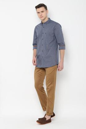 ALLEN SOLLY - Charcoal Casual Shirts - 2