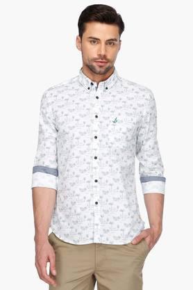 Bay Island Formal Shirts (Men's) - Mens Full Sleeves Casual Printed Shirt